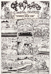 Robert Crumb Your Hytone Comics Complete 3-Page Story Original Art (Apex Novelties, 1971).... (Total: 3 Original Art)