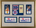 Basketball Collectibles:Others, 1981 NBA All-Star Game Tickets Display With Cleveland CavaliersPins. . ...
