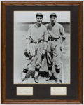 Autographs:Photos, Paul and Lloyd Waner Signed Cut Signature Photograph Display.. ...