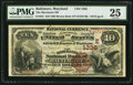 National Bank Notes:Maryland, Baltimore, MD - $10 1882 Brown Back Fr. 481 The Merchants NB Ch. #1336. ...