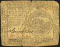 Colonial Notes:Continental Congress Issues, Continental Currency July 22, 1776 $4 Very Good.. ...