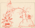 Animation Art:Production Drawing, Mother Goose Goes Hollywood Laurel and Hardy StoryboardDrawing (Walt Disney, 1938). ...