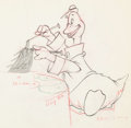 Animation Art:Production Drawing, Donald's Cousin Gus Gus Goose Animation Drawing (WaltDisney, 1939). ...