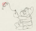 Animation Art:Production Drawing, Snow White and the Seven Dwarfs Happy Animation Drawing(Walt Disney, 1937). ...