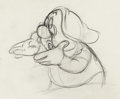 Animation Art:Production Drawing, Snow White and the Seven Dwarfs Doc Animation Drawing (WaltDisney, 1937). ...