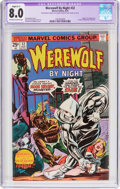 Bronze Age (1970-1979):Horror, Werewolf by Night #32 (Marvel, 1975) CGC Apparent VF 8.0 (SlightC-1) Off-white to white pages....