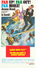 "Movie Posters:James Bond, On Her Majesty's Secret Service (United Artists, 1970).International Three Sheet (41"" X 77"") Frank McCarthy Artwork.. ..."