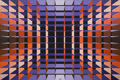 Post-War & Contemporary:Contemporary, Yvaral (Jean-Pierre Vasarely) (1934-2002). Structure AmbigueCristal, 1972. Acrylic on canvas. 43 x 63 inches (109.2 x 1...