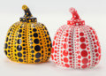 Post-War & Contemporary:Contemporary, Yayoi Kusama (b. 1929). Red and Yellow Pumpkin (twoworks), 2013. Painted cast resin, each. 4 x 3-1/4 inches(10.2 x... (Total: 2 Items)