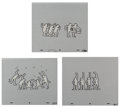 Fine Art - Work on Paper:Print, After Keith Haring . Sesame Street Breakdancers (White) (three works) 1987. Ink on overhead sheet, each. 10-1/2 x 12-1/2... (Total: 3 Items)