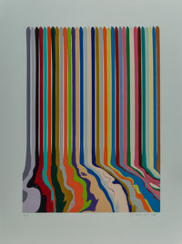 Ian Davenport (b. 1966) Etched Lines; Thirty Four, 2008 Etching in colors on Magnani Pescia paper