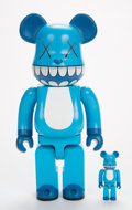 Post-War & Contemporary:Sculpture, KAWS (b. 1974). Chompers BE@RBRICK 400% and 100% (two works), 2003. Painted cast vinyl. 10-3/4 x 3 x 5 inches (2... (Total: 2 Pieces)