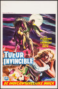 """Movie Posters:Horror, Curse of the Undead (Universal International, 1959). Belgian (14"""" X21.75""""). Horror.. ..."""