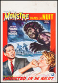 "Movie Posters:Horror, Monster on the Campus (Universal International, 1958). Belgian (14"" X 21""). Horror.. ..."