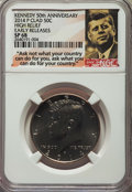 Kennedy Half Dollars, 2014-P 50C High Relief Kennedy 50th Anniversary, Early Releases,Clad SP68 NGC. This lot will include the following coins: ...(Total: 4 coins)