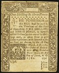 Colonial Notes:Connecticut, Connecticut June 1, 1780 1s 3d Cross-Cut Cancel Very Fine-ExtremelyFine.. ...