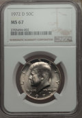 Kennedy Half Dollars, 1972-D 50C MS67 NGC. NGC Census: (42/1). PCGS Population: (93/0).Mintage 141,890,000. ...