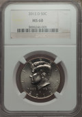 Kennedy Half Dollars, 2012-D 50C MS68 NGC. PCGS Population: (7/0). Mintage 1,700,000. ...