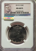 Kennedy Half Dollars, 2015-D 50C MS68 Prooflike NGC. ...