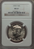 Kennedy Half Dollars, 1990-P 50C MS67 NGC. ...