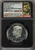 Kennedy Half Dollars, 2014-S 50C Silver, Enhanced Finish, High Relief, 50th Anniversary Set, Early Releases SP70 Deep Mirror Prooflike NGC. NGC C...