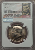 Kennedy Half Dollars, 1976-D 50C CLAD MS67 NGC. NGC Census: (33/0). PCGS Population:(34/0). Mintage 287,565,248. ...