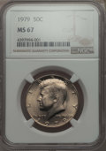 Kennedy Half Dollars, 1979 50C MS67 NGC. NGC Census: (23/1). PCGS Population: (48/1).Mintage 68,312,000. ...