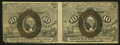 Fractional Currency:Second Issue, Fr. 1244 10¢ Second Issue Uncut Horizontal Pair Very Fine-Extremely Fine.. ...