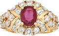 Estate Jewelry:Rings, Yellow Sapphire, Diamond, Gold Ring The ring c...