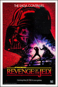 "Revenge of the Jedi (20th Century Fox, 1982). One Sheet (27"" X 41""). Dated Advance Style. Science Fiction"