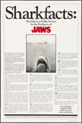 "Movie Posters:Horror, Jaws (Universal, 1975). One Sheet (27"" X 41"") Shark Facts Style.Horror.. ..."