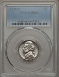 Jefferson Nickels, (5) 1946-S 5C MS66 PCGS.... (Total: 5 coins)