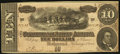 Confederate Notes:1864 Issues, T68 $10 1864. Blundered Series.. ...