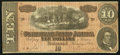 Confederate Notes:1864 Issues, T68 $10 1864 PF-1 Cr. 540 State IIA Weak Right A Plate Letter.. ...