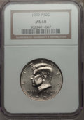Kennedy Half Dollars, 1999-P 50C MS68 NGC. NGC Census: (16/1). PCGS Population: (30/0)....