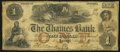 Obsoletes By State:Indiana, Laurel, IN - Thames Bank $1 Aug. 12, 1856. ...