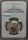 Kennedy Half Dollars, 1984-P 50C MS67 NGC. NGC Census: (33/0). PCGS Population: (27/0).Mintage 26,029,000. ...