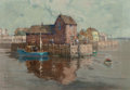 Fine Art - Painting, American:Modern  (1900 1949)  , David Ject-Key (American, 1890-1968). Harbor View. Oil oncanvasboard. 22 x 32 inches (55.9 x 81.3 cm). Signed lower lef...