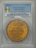 Expositions and Fairs, 1893 World's Columbian Exposition, Official Medal, Type One, HK-154, MS63 PCGS. Brass....