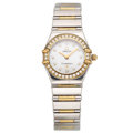 Estate Jewelry:Watches, Omega Lady's Diamond, Gold, Stainless Steel, Constellation Wristwatch. ...