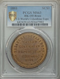 Expositions and Fairs, 1893 World's Columbian Exposition, Official Medal, Type Two,HK-155, MS63 PCGS. Brass....