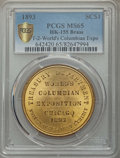Expositions and Fairs, 1893 World's Columbian Exposition, Official Medal, Type Two,HK-155, MS65 PCGS. Brass....