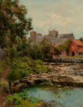 Fine Art - Painting, European:Antique  (Pre 1900), John Wallace (British, 1841-1905). Ripon Cathedral, 1898.Oil on canvas. 36 x 28 inches (91.4 x 71.1 cm). Signed and dat...