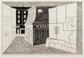 Fine Art - Work on Paper:Print, Stuart Davis (American, 1892-1964). Rue des Rats, 1928.Lithograph and chine collé on wove paper, with margins. 10-1/2 x...