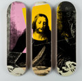Prints & Multiples, After Andy Warhol X The Skateroom. Last Supper, triptych, n.d.. Screenprints on skate decks. 31 x 8 inches (78.7 x 20.3 ... (Total: 3 Items)