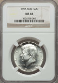 Kennedy Half Dollars, 1965 50C SMS MS68 NGC. Mintage 65,879,368....