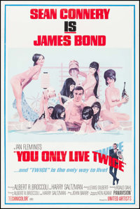 """You Only Live Twice (United Artists, 1967). One Sheet (27"""" X 41"""") Style C. James Bond"""