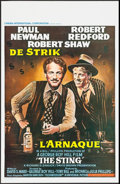 "Movie Posters:Crime, The Sting (CIC, 1973). Belgian (13.75"" X 21.25""). Crime.. ..."