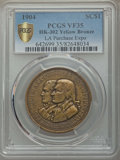 Expositions and Fairs, 1904 Louisiana Purchase Exposition, Official Souvenir Medal,HK-302, VF35 PCGS. Yellow Bronze....