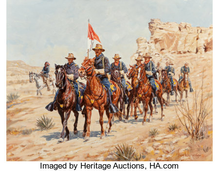 Sam Wisnom (American, 20th Century) Cochise Territory Oil on canvas 28 x 36 inches (71.1 x 91.4 cm) Signed lower rig...
